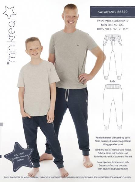 Bilde av Minikrea 66340 - Joggebukse/sweatpants herre og barn/gutt
