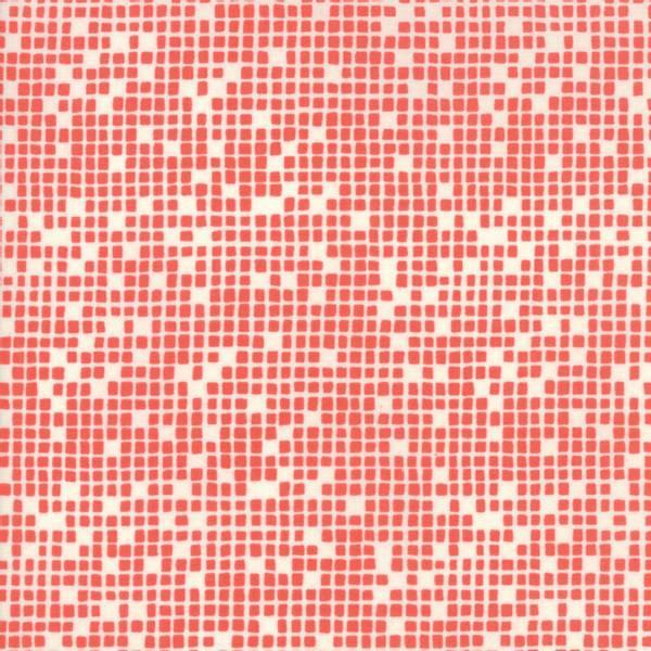 Bilde av Lazy Days - 3 mm lysrøde kvadrater på offwhite