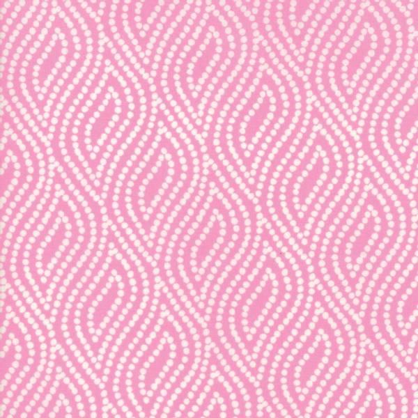 Bilde av 45 cm Lazy Days - hvit 2mm prikkemønster på rosa