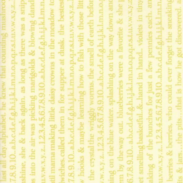 Bilde av Ella & Ollie - 5 mm vårgrønn skrift, dikt, på vanilje