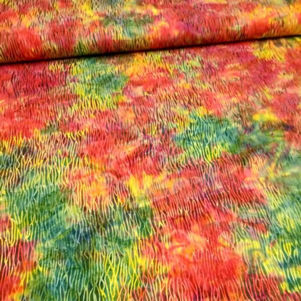 Bilde av Batikk - grønn-gul-rød stripemønster