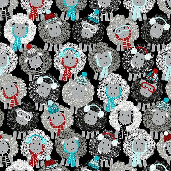 Bilde av All you knit is love - 3,5 cm strikk sauer på sort