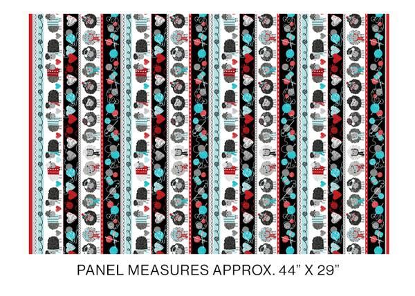 Bilde av All you knit is love - 5-7cm rader med sauer & garn