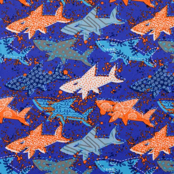 Bilde av Sport & Bad - lycra, 11 cm hai - oransje-blå