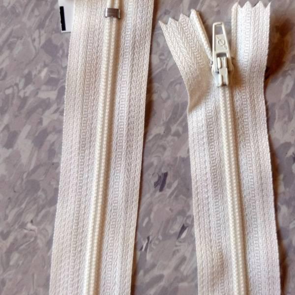 Bilde av Spiralglidelås, 4mm ikke delbar, offwhite