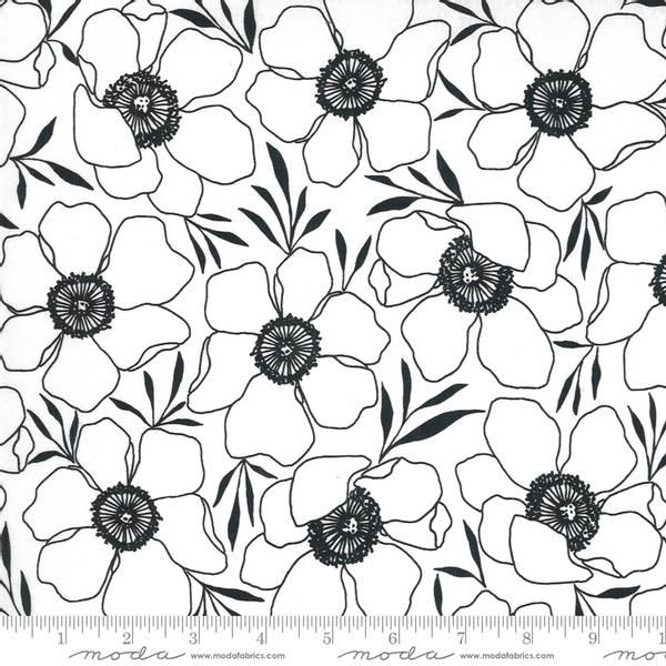 Bilde av Illustrations  - 8 cm hvite blomster på hvit