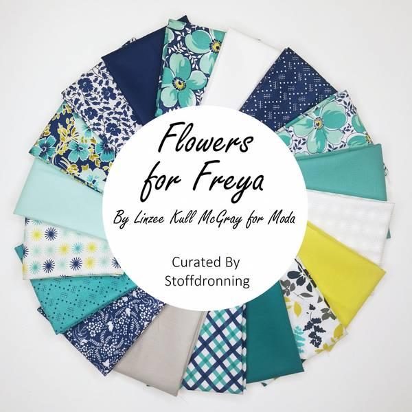 Bilde av Flowers for Freya- Stoffpakke, 30x55 cm, 18 st.