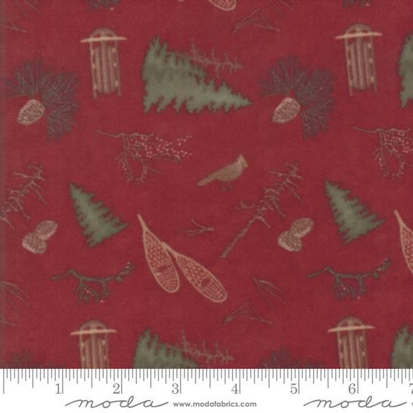 Bilde av 1,2 m Frosted Flannels - burgunder m 4 cm tre