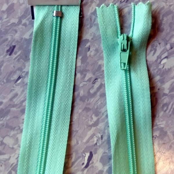Bilde av Spiralglidelås, 4mm ikke delbar, mintgrønn