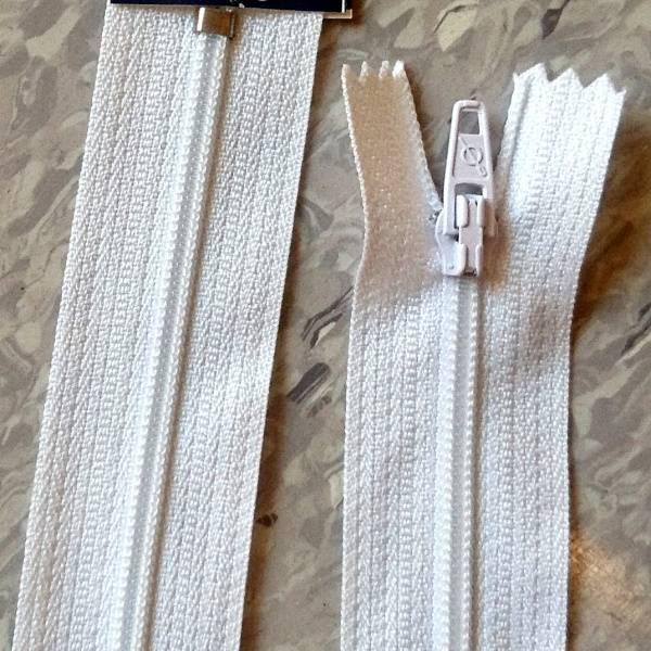 Bilde av Spiralglidelås, 4mm ikke delbar, hvit
