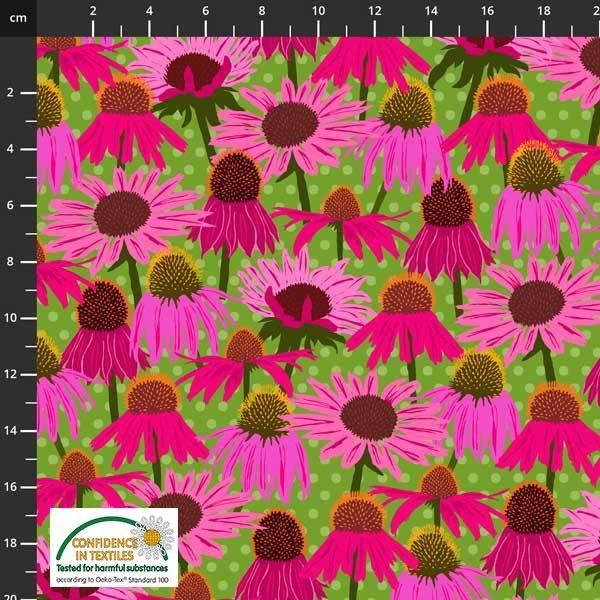 Bilde av Wild About Flowers - rosa solhatt på grønn