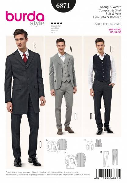 Bilde av 6871 - Burda - Dress - jakke & bukse, vest
