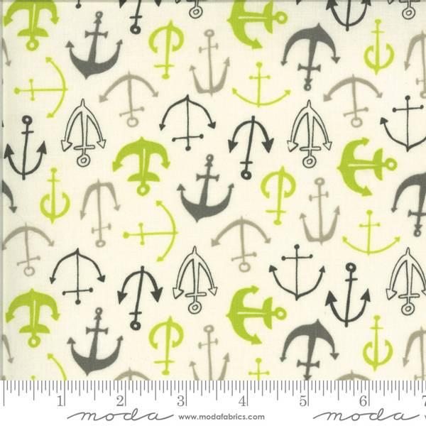 Bilde av Fish Tales - 2 cm grå-lime anker på offwhite