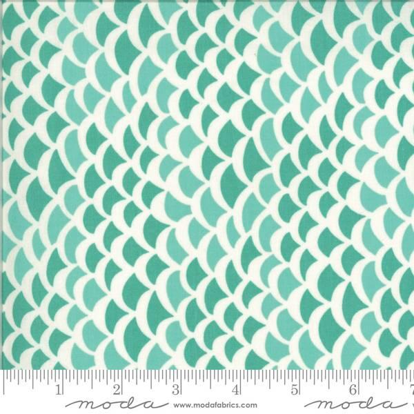Bilde av 50 cm Fish Tales - 1 cm turkise bølger