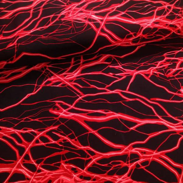 Bilde av Lycra Neon - rød lynnedslag på sort