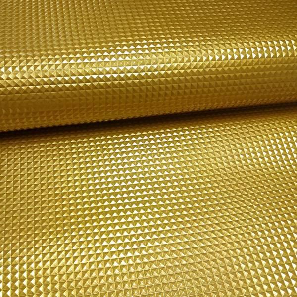Bilde av Imitert skinn metallic - 8 mm pyramider - gull