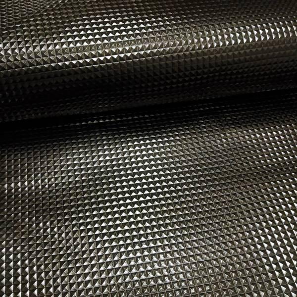 Bilde av Imitert skinn metallic - 8 mm pyramider - sort