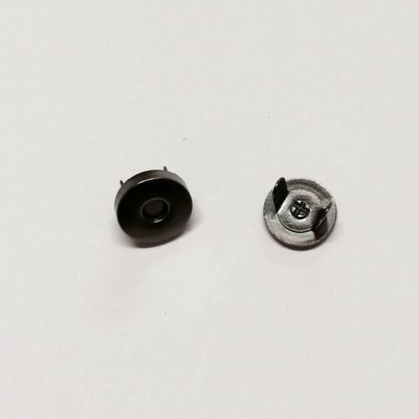 Bilde av Magnet knapp - sort blank, 15mm