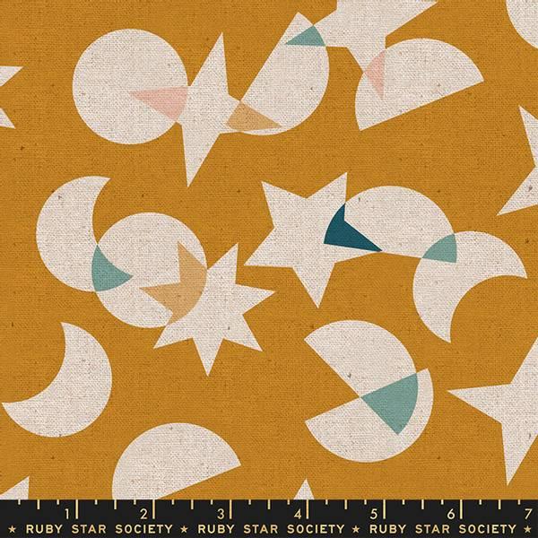 Bilde av Stellar Canvas - Kanvas okergul med 4 cm motiver