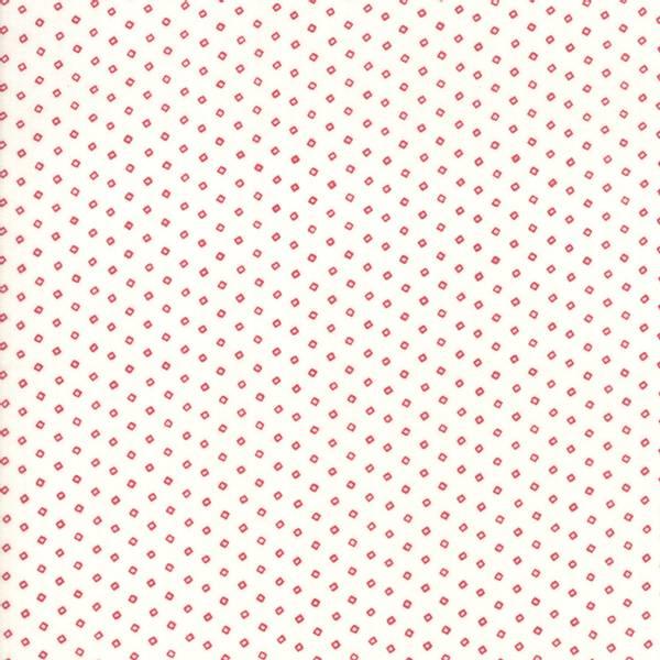 Bilde av My Redwork Garden - 2 mm røde firkanter på offwhite