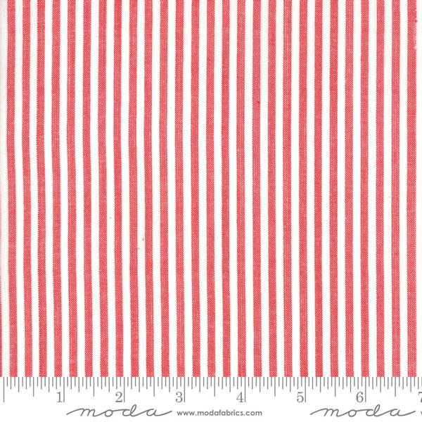 Bilde av 60 cm Bonnie & Camille Wovens - 3 mm rød-natur striper