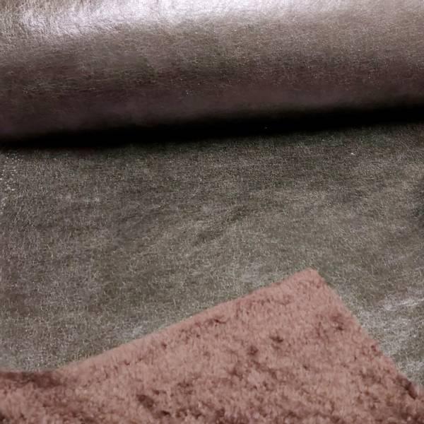 Bilde av Doubleface lakk/teddy - sort crasj-lakk, burgunder teddy