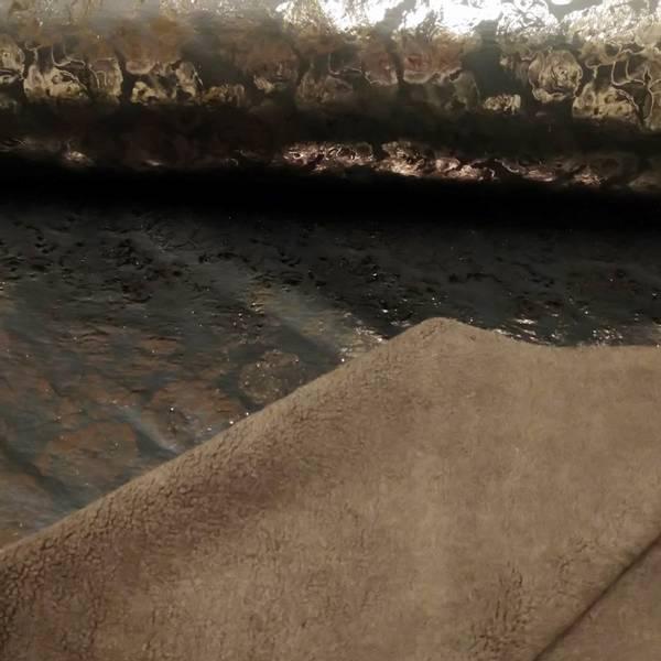 Bilde av Doubleface lakk/teddy - 5 cm metallic roser, sjokolade teddy