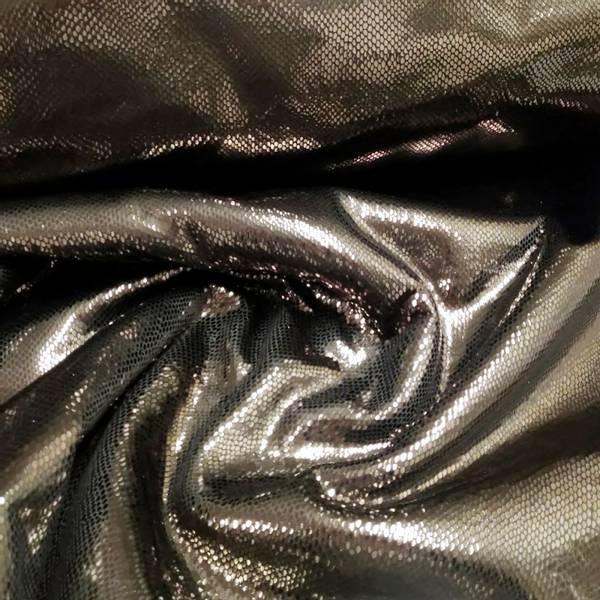 Bilde av Doubleface lakk/teddy - sort slangeprint, sjokolade teddy