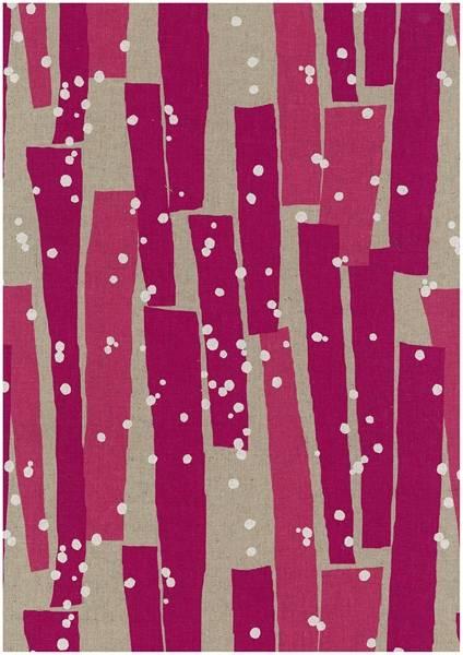 Bilde av Echino - geometrisk mønster på lin - pink-rosa