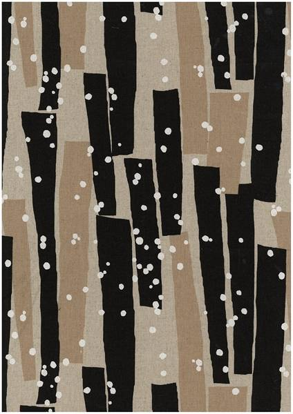 Bilde av Echino - geometrisk mønster på lin - sort-sand