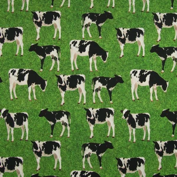 Bilde av Bomullsjersey - 8-10 cm kuer på grønn gress
