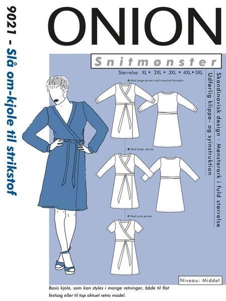 Bilde av Onion 9021 - slå om kjole til stretch - pluss-size