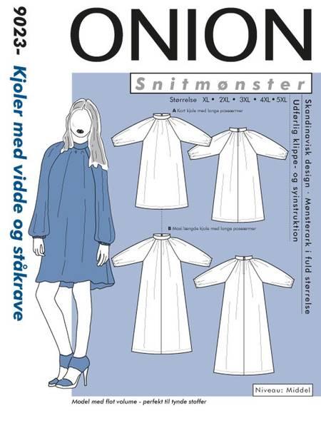 Bilde av Onion 9023 - kjole med vidde & ståkrage - pluss-size
