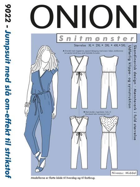 Bilde av Onion 9022 - jumpsuit m slå-om effekt til stretch - pluss-size
