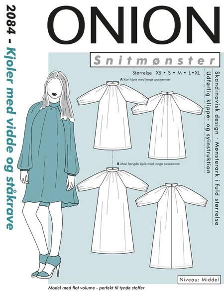 Bilde av Onion 2084 - kjole med vidde og ståkrage