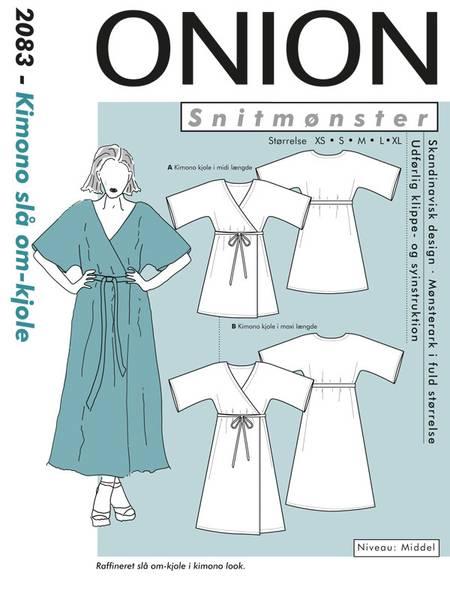 Bilde av Onion 2083 - kimono slå om - kjole