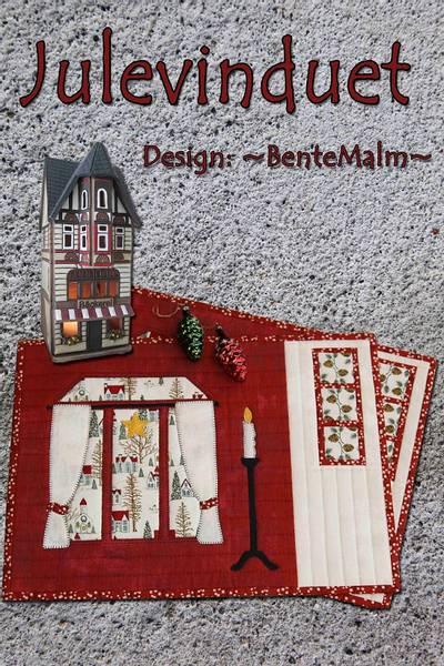 Bilde av Bente Malm 204 - Julevinduet - brikker med applikasjon
