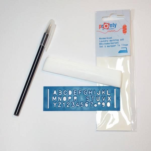 Bilde av Navnebånd - 3 m strykbar bånd, sjablong, merkepenn
