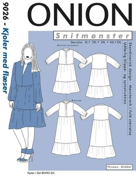 Bilde av Onion 9026 - kjole med kapper, pluss-størrelse