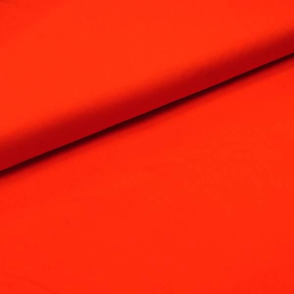 Bilde av Ensfarget bomullspoplin, knallrød/ neonrød