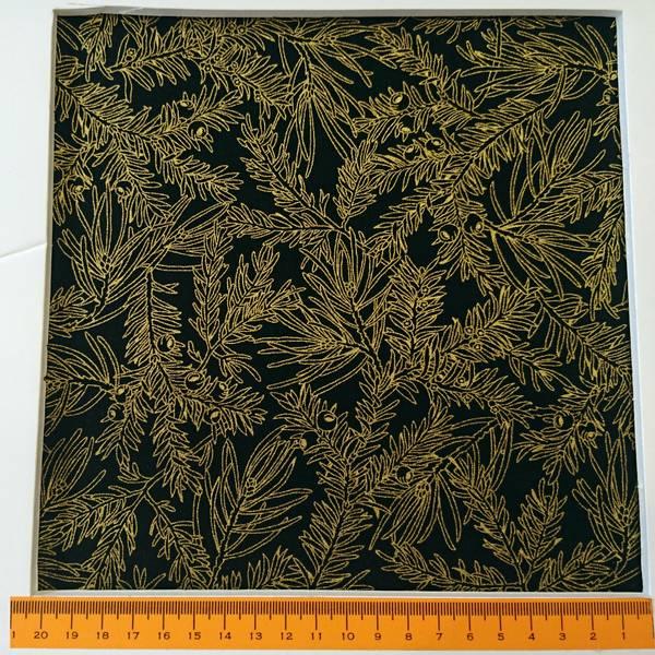 Bilde av Gull granmønster på sort, ca 4-10 cm
