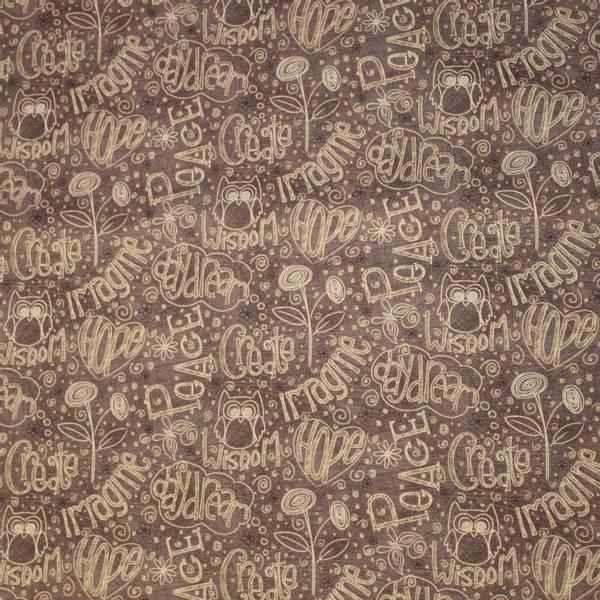 Bilde av Engelske bronsefargete ord på brun bakgrunn