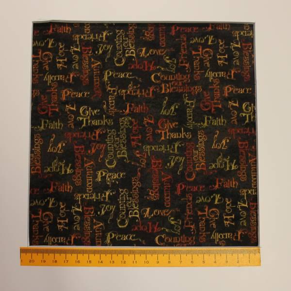Bilde av Peace, joy, hope, 1 cm rød/orange/gul skrift på svart bakgrunn