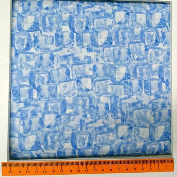Bilde av Isbiter, ca 2 cm i blått og hvitt