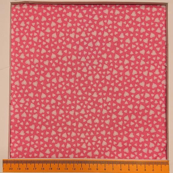 Bilde av Lysrosa 5 mm hjerter på rosa