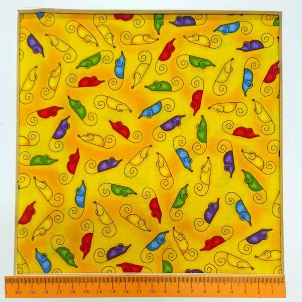Bilde av Flerfargete 3 cm mus på gul