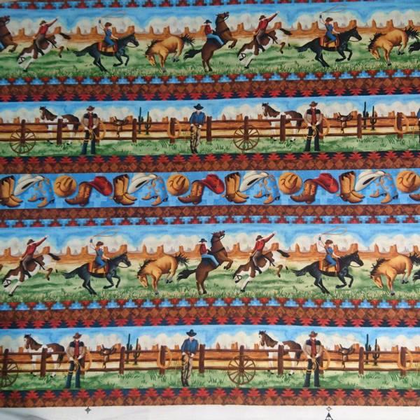 Bilde av Striper, ca 16 cm høyde, med cowboymotiv/ hest, ca 8 cm