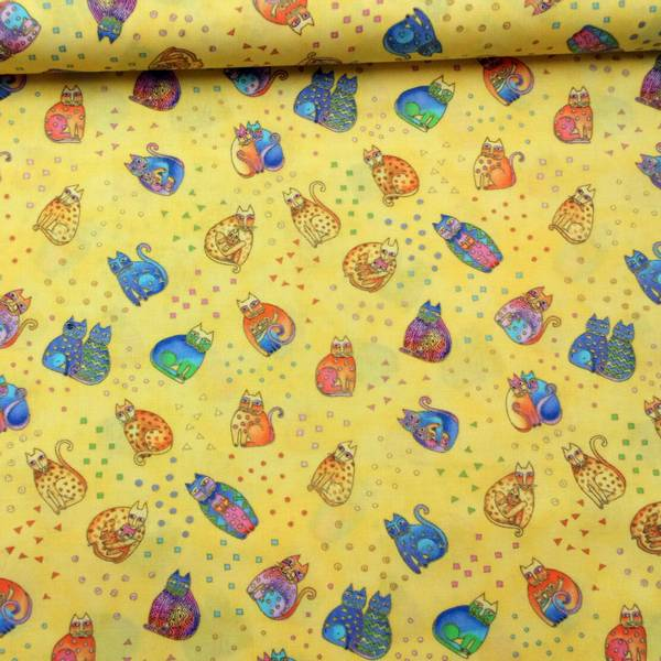 Bilde av Fanciful Felines - Katt, gul, 2-4 cm