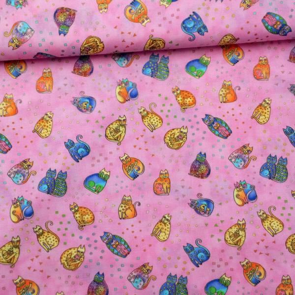 Bilde av Fanciful Felines - katt, rosa, 2-4 cm