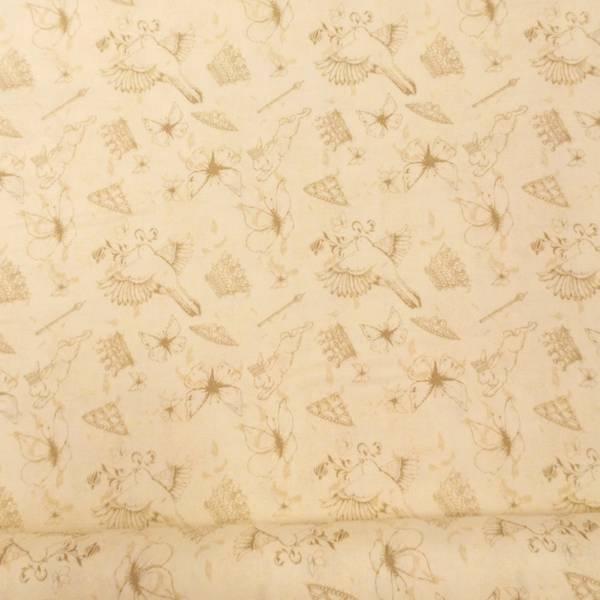 Bilde av Fugler og sommerfugler, 1-6 cm på creme